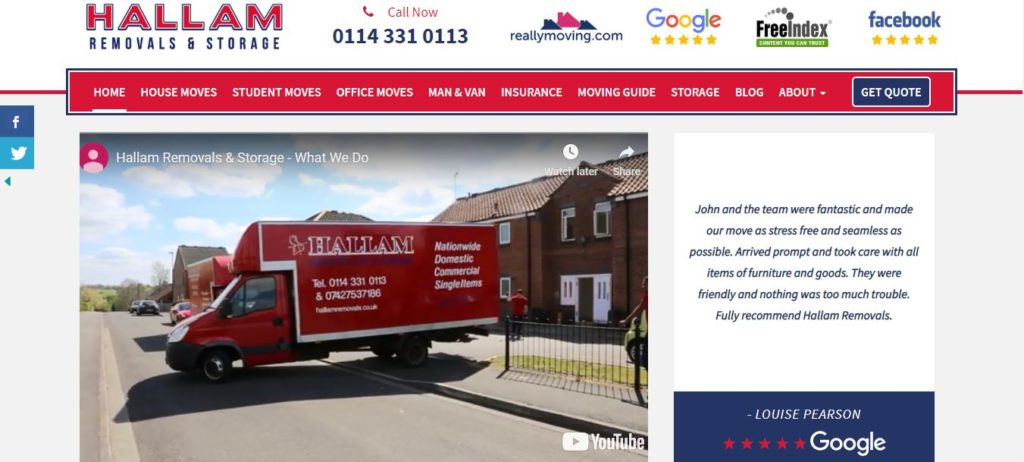 Hallam Removals and Storage