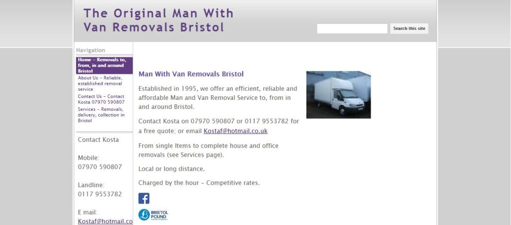 The Original Man with Van Removals Bristol