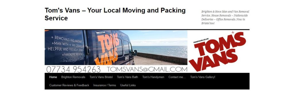 Tom's Vans Removals