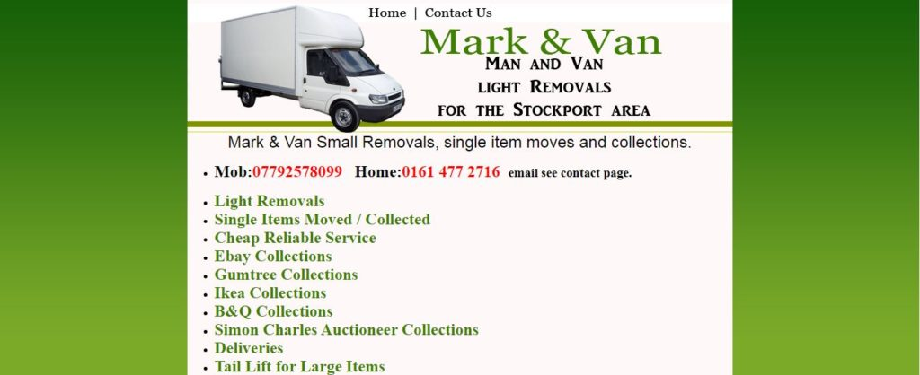 Man And Van Stockport
