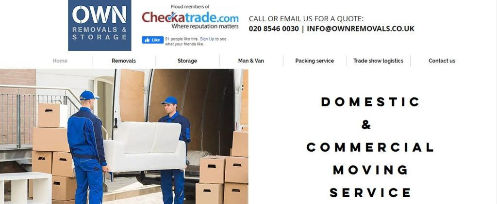 OWN Removals And Storage