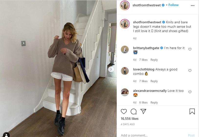 Fashion influencer Lizzy Hadfield