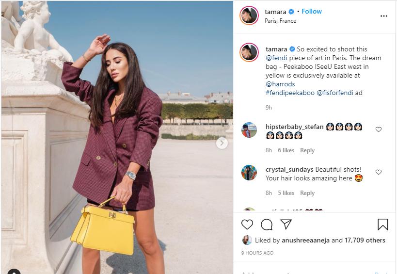 Fashion influencer Tamara