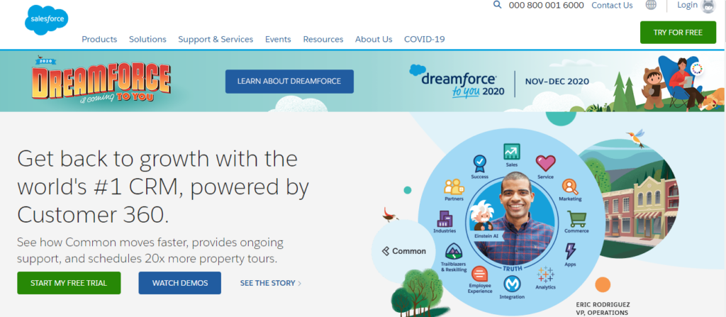 salesforce web application