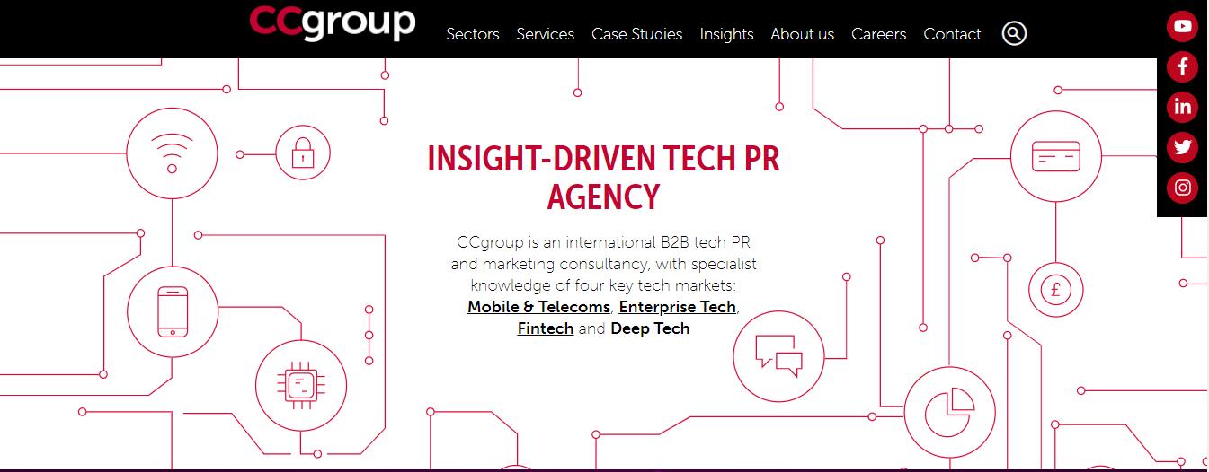 ccgroup pr agencies london