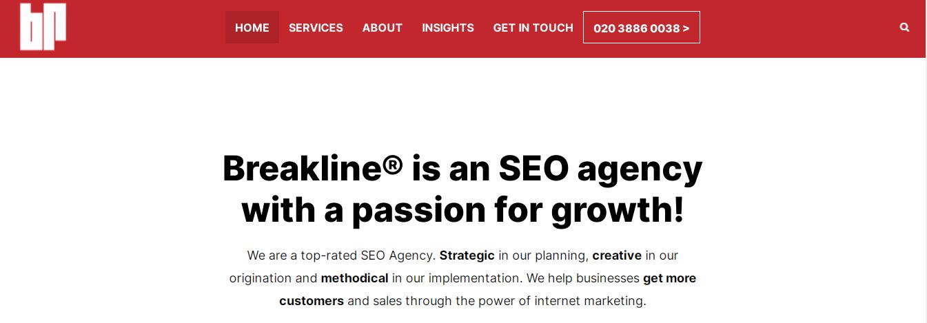 breakline seo agencies london
