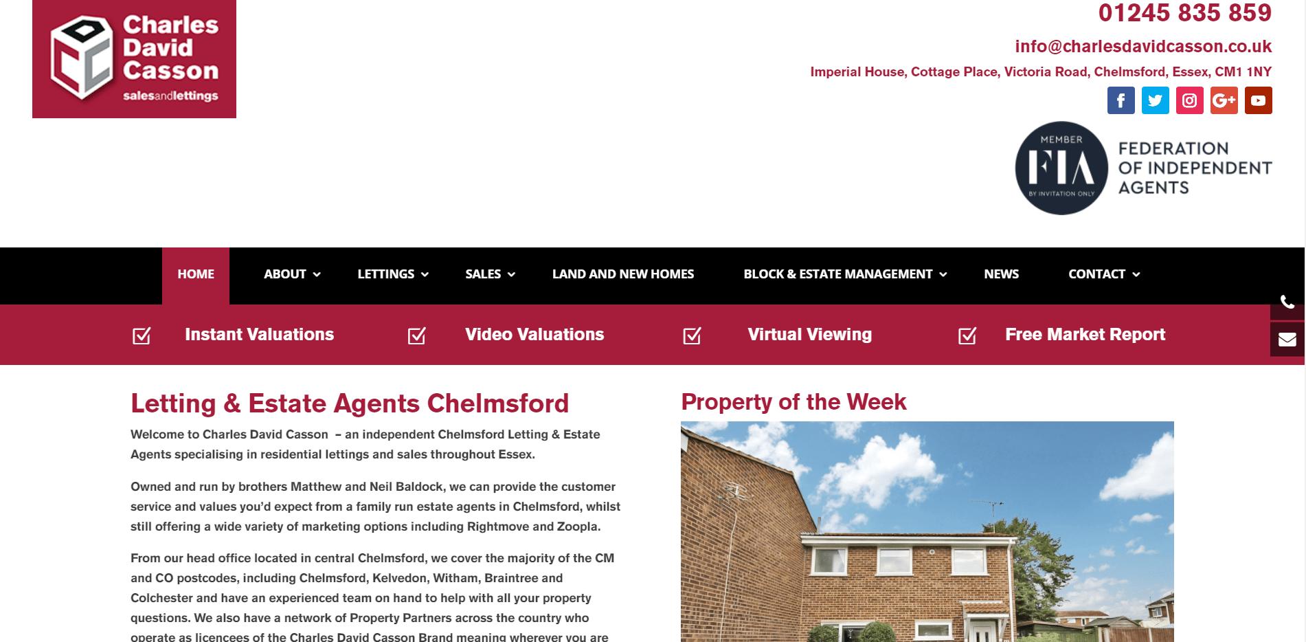 Charles David Casson Estate Agents Chelmsford